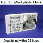 "Personalised 6x4"" DADDY DAD GRANDAD plaque with photo & quote unique gift"