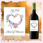 Will you be my Bridesmaid Wine Bottle Sticker Labels WEDDING bridal Gift LABEL