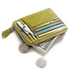 Women's Leather Coin Card Purse Zippy Wallet Ultra Thin Handbag Money Clip