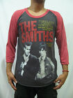 THE SMITHS chord songbook morrisey Men's Raglan T-Shirt Graphic Tee Gray Red