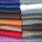 "SOFT & WARM MULTICOLOR SOLID PLAIN ALPACA WOOL HANDMADE BLANKET PLAID 90"" X 65"" image"