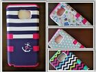 For Samsung Galaxy S5 S7 Note 4 Hybrid Rubber Skin & Hard Shockproof Cover Case