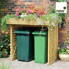 GARDEN STORAGE Timber Wooden Kanny Bin Store With or Without Doors