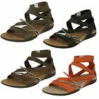 Ladies Merrell Gladiator Style Sandals Henna
