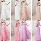 Women Lace Boho Maxi Evening Party Dress Chiffon Cocktail Dress Gown Long Prom