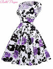 Housewife Vintage Retro 50's 60s Swing Pinup Evening Party Prom Dress