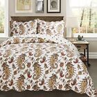 Peace of Mind Paisley 100% Cotton Quilt set,Bedspread, Coverlet image