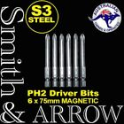 "6x SCREWDRIVER BIT POWER PHILLIPS HEAD PH2 25mm 50mm 75mm 2"" 3"" MAGNETIC DRIVER"