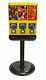 Triple Time Gumball & Candy Vending Machine - YELLOW
