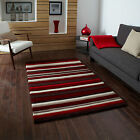 MODERN MEDIUM LARGE  1-2 CM THICK RED WAVE PATTERN  HONGKONG ACRYLIC RUNNER RUG