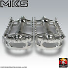 "MKS (Mikashima) BM-7 Pedals, 9/16"" Old School BMX Black, Blue, Red, Gold, Silver"