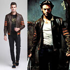 Hot sell! XMEN 1 WOLVERINE BROWN BIKER LEATHER JACKET Winter Coat GBHNG