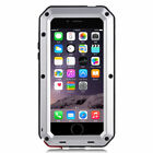 Shockproof Aluminum Glass Metal Case Cover for iPhone 6 & 6s 5s 5c 6/6s Plus