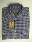 New Tom Hagan Traditional Country Classics Long Sleeve Check Shirts Navy