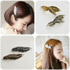 Quality Women Hairpin Leaf Hair Clip Feather Hair Pin Jewelry Accessories moca