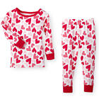 Koala Kids Girls 2 Piece Valentine's Day Heart Print Pajama Set with Long Sleeve