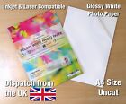 A4 Transparent Clear VINYL Laser Print Glossy Strong Self Adhesive Sheet Sticker