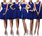 Lace Up Short Cocktail Party Prom Go Out Evening Bridesmaid Formal Dress XS-2XL