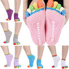 Alluring 2x Antislip Ankle Grip Durable Colorful 5 Toe Finger Cotton Yoga Socks