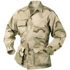 SHIRT BDU Camouflage DESERT 3 COLORS 4 Pockets Desert Storm Coat Sizes 2X-3X-4X