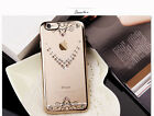 Clear Crystal Rubber Plating Bumper TPU Soft Case Cover For iPhone 6 6S & Plus