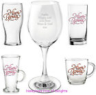 PERSONALISED Happy BIRTHDAY Glass KEEPSAKE Gift IdeaFor FRIEND Him HER Keepsake