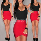 Sexy Ladies Summer Sleeveless O Neck Bodycon Party Mini Cocktail Dress S M L XL