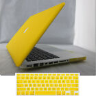 """2in1 Yellow Rubberized Matt Hard Case Cover For MacBook AIR White PRO 11"""" 13 15"""