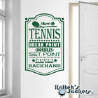 Ace Tennis Vinyl Wall Decal break point doubles set fault game backhand L156
