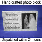 """Personalised 6x4"""" plaque with photo lost loved one heart felt verse"""