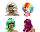 Внешний вид - Halloween Costume Wigs Blonde Curly Wig Clown Wig Disco Green Purple Hair Piece