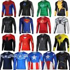 Superhero Marvel Comics Costume Cycling T-Shirts Mens Long Sleeve Bicycle Jersey