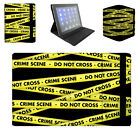 Crime Scene Tape Flip Folio Case - Fits Ipad Air Mini Kindle Samsung Galaxy