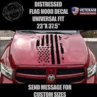 Distressed USA Flag hood vinyl decal worn torn fits: Dodge Ram Chevy Ford Toyota