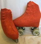 Dark Orange Shattered Glass Boot Covers for RollerSkates and Ice Skates  S,M,L