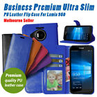 Lumia 950 Durable Flip Gel Leather Business Wallet Cover For Nokia Microsoft OZ