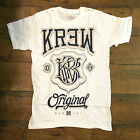 Krew Champ tee - White Casual T-Shirt New  - Size: S / L / XL