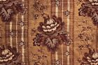 Antique French quilt textile linen backing madder   c1830 1830's 1830 80X93