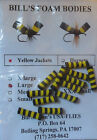 12 FOAM YELLOW JACKET BODIES BEE DRY FLY CYLINDERS SKILTON FLY TYING MATERIALS