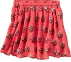 Girl's Old Navy Crepe Circle Skirt RED Floral Size 5 6 7 10 12 14 XS S L XL ~NEW