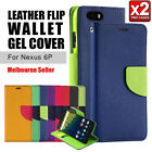 Nexus 6P Case Colorful Gel Leather Wallet Slim Cover For Google OZ