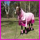 LOVE MY HORSE 600D 300g 5'0 - 6'6 Reflective Winter Combo Waterproof Rug Pink