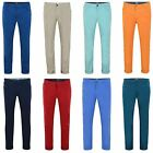 Boys Casual Slim Fit Chino Trousers Kids Cotton Pants Zip Fly Sizes 12-16 Years