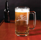 Personalized Large Beer Mug/Stein with Engraved Royal Lion