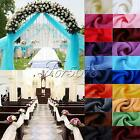 5M*1.4M Top Table Swag Soft Sheer Organza Fabric Wedding Party Stair Home Supply