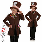 Boys Mad Hatter Costume Child Book Day Fancy Dress Kids Alice Fairy Tale Outfit