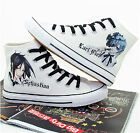New Kuroshitsuji Hand Painted Cosplay Canvas Shoes Black Butler Ceil Sneakers
