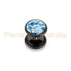 16G Camouflage Acrylic Cheater Fake Ear Plug CHOOSE SINGLE OR PAIR
