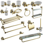 NEW GOLD VICTORIAN STYLE BRASSCERAMICS WALL MOUNTED ROUND BATHROOM ACCESSORIES