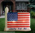 "8 FEET FLAG PATRIOTIC AMERICAN FLAG ""LIBERTY FOR ALL"" AIRBLOWN 4 JULY INFLATABLE"